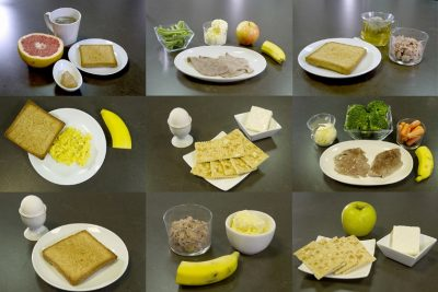 menu dieta militar