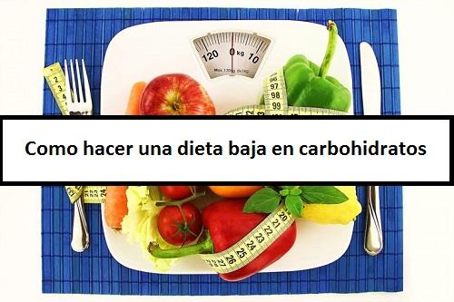 Dieta baja en carbohidratos para una semana
