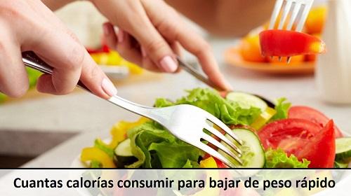 Cuantas calorias debo comer para bajar de peso