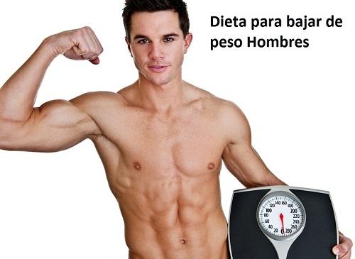 Dieta para bajar de peso hombres necios
