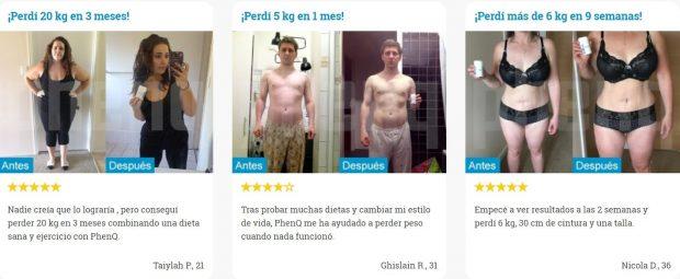antes y despues de tomar phenq