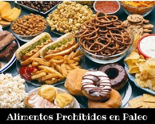 Alimentos prohibidos dieta del paleo