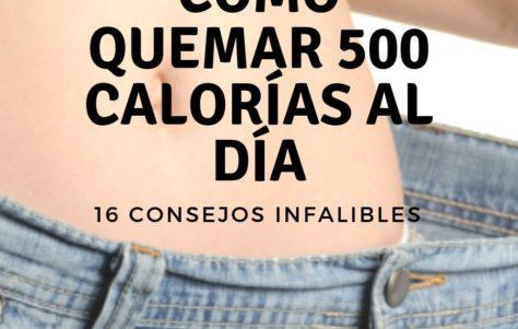 Cómo quemar 500 calorías al día