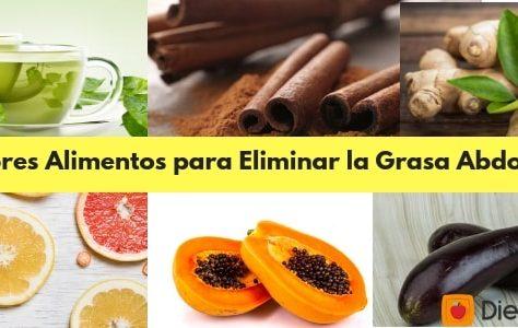10 Alimentos para eliminar la grasa abdominal