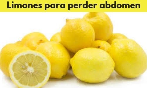 Limones para perder abdomen