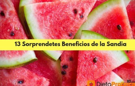 13 Magníficos Beneficios de la Sandía