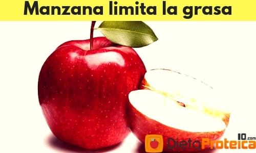 Manzana limita las grasas