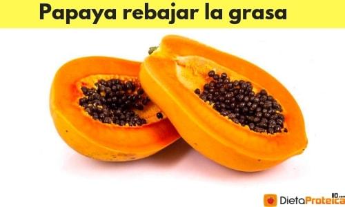 Papaya rebajar la grasa