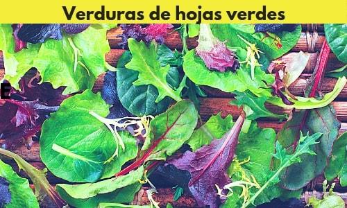 verduras de hojas verdes para perder abdomen