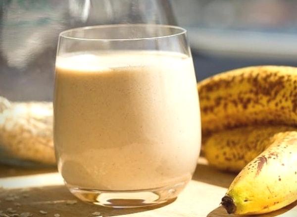 batido de plátano y avena buen desayuno