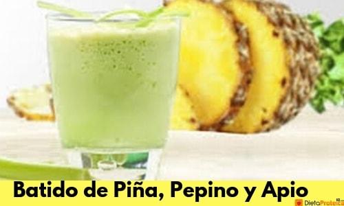 Batido de fruta y verdura de Piña, Pepino y Apio