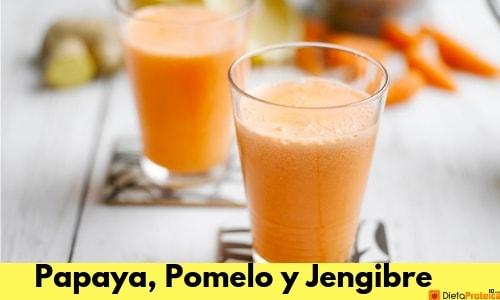 Batido de papaya,pomelo y jengibre