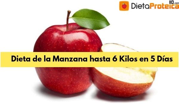 Dieta de la Manzana hasta 6 Kilos de 3 a 5 Días