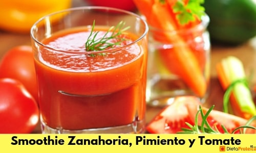 Smoothie zanahoria, pimiento y tomate