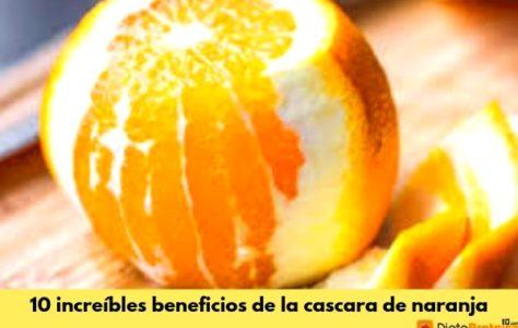 Los 10 beneficios de la cáscara de naranja