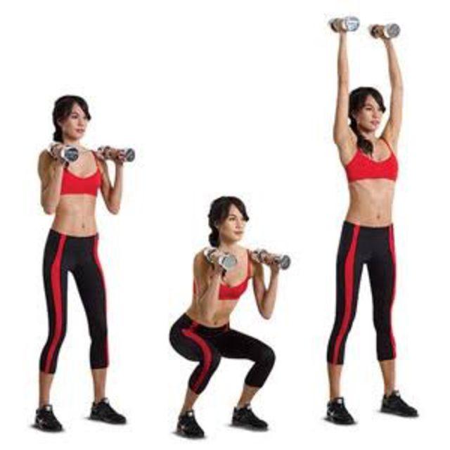Resultado de imagen para Jump Squat to Shoulder Press