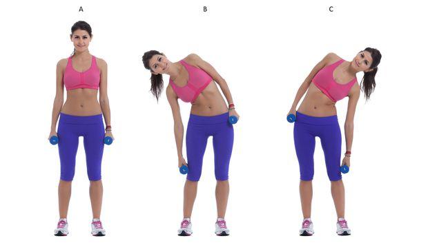 Resultado de imagen para curvas laterales con mancuernas
